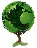 Globe World Tree Concept