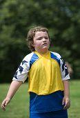 Sweaty Soccer Player