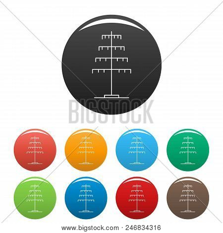 poster of Single Pole Icon. Outline Illustration Of Single Pole Vector Icons Set Color Isolated On White