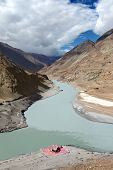 Confluence Of Rivers Zanskar And Indus, Hiamalayas