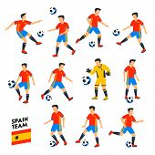 Spain Football Team. Spain Soccer Players. Full Football Team, 11 Players. Spanish Soccer Players On poster