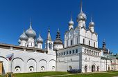 Gate Church Of The Resurrection Of Christ In Rostov Kremlin, Russia poster