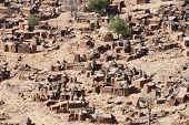 foto of dogon  - The principal Dogon area is bisected by the Bandiagara Escarpment.