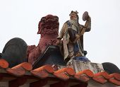 Roof Detail Of Pak Tai Temple.  Cheung Chau. Hong Kong.