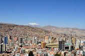 stock photo of overpopulation  - Panorama of City of La Paz Bolivia from Killi Killi Viewpoint - JPG
