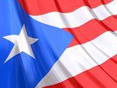 Glossy Flag Of Puerto Rico