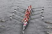 Brown University races in the Head of Charles Regatta