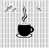 Coffee background with words