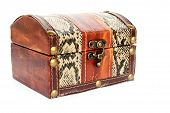 image of dowry  - Treasure chest isolated on white background - JPG