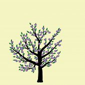 Tree With Green Leaves.tree Blooms. Vector Tree Icon. Tree Forest, Leaf Tree Isolated, Tree Branch N poster
