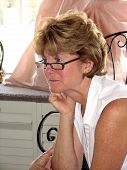 Senior Woman Watching Intently