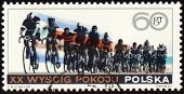 Post Stamp Shows Group Of Cyclists