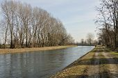 muzza canal in winter country