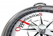 picture of compass  - opportunities way indicated by concept compass on white background - JPG