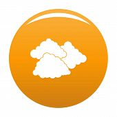 Dark Cloudy Icon. Simple Illustration Of Dark Cloudy Vector Icon For Any Design Orange poster