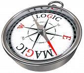 Logic Vs Magic Concept Compass