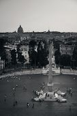 Piazza del Popolo  in Rome, Italy with St. Peters Basilica in Vatican City. poster