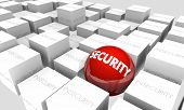 Security Vs Insecurity Safe Secure 3d Illustration poster