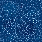 Deep Blue Sea Water Pattern. Ocean Water Surface With White Foam Background. Blue Water Texture Temp poster