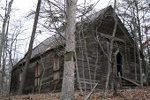 pic of 1700s  - An old church from the 1700s abandoned in the forest - JPG
