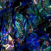 Watercolor Ethnic Seamless Pattern. Tribal Colorful Paint Brush Print. Oriental Splash Watercolour D poster
