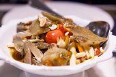 Traditional Asian Herbal Food: Thai Green Papaya Salad (som Tum Thai), Most Favorite And Famous Thai poster