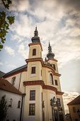 Litomysl, Czech Republic, Church Of The Discovery Of The Holy Cross And The Piarist Order College. C poster