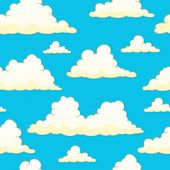 Seamless background with clouds 9 - vector illustration.