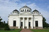 stock photo of tsarskoe  - Sophia Cathedral in Tsarskoe Selo built by the architect Cameron in the late eighteenth century - JPG