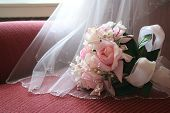 Veil And Bouquet
