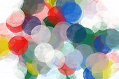Abstract Circles Pattern Illustration