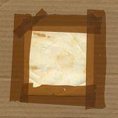 image of gaffer tape  - Adhesive tape border frame cardboard paper background - JPG