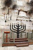 Постер, плакат: Еврейский Ханука подсвечник