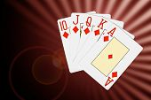Abstract Poker Cards Background
