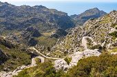 Mirador Coll Dels Reis - Mountain Pass Located On The Northwest Coast Of The Spanish Balearic Island poster