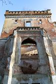 Old Palace Ruins. Old Devastated Palace In Central Europe. poster