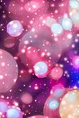 Abstract Cosmic Starry Sky Lights And Shiny Glitter, Luxury Holiday Background poster