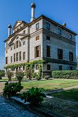 Ancient Villa Foscari La Malcontenta Garden  In Veneto, Northern Italy