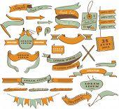 Vintage label design elements