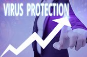 Conceptual Hand Writing Showing Virus Protection. Business Photo Showcasing Program Designed To Prot poster