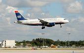 Us Airways Jet Landing