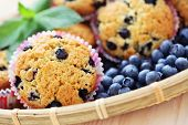 image of patty-cake  - mascarpone and blueberry muffins  - JPG