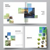 Vector Layout Of Two Covers Templates For Square Design Bifold Brochure, Flyer, Magazine, Cover Desi poster