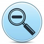 Vector Decreasing Magnification Minus Sign Matte Button. EPS10.