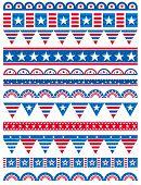 Divisores de faixas decorativas, ornamentais regras, EUA