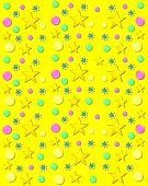 Baubles And Bubbles On Yellow