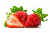 stock photo of strawberry  - close - JPG