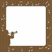 Karton Trompete Player frame