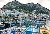 The Boats In Capri Harbour