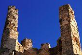 Ruins Of Old Castle Of The Knights Templar In Alcala De Xivert, Spain.
